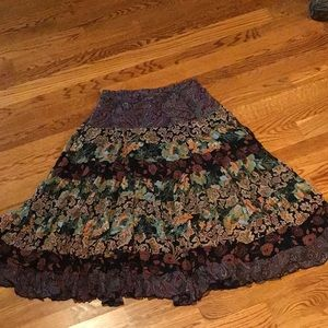 Coldwater Creek flowing skirt